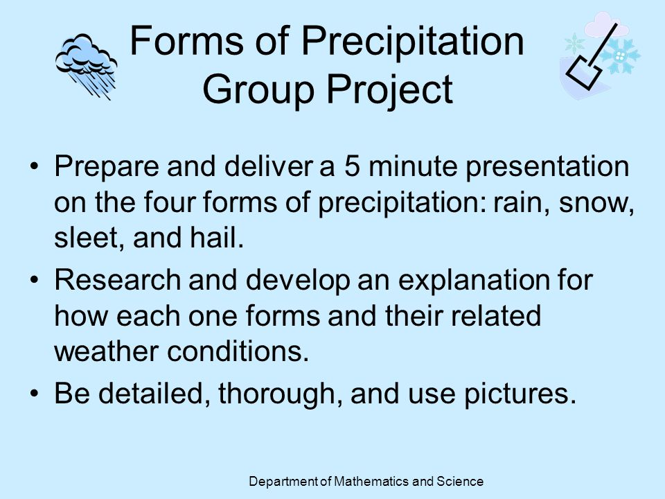 Forms of Precipitation Group Project