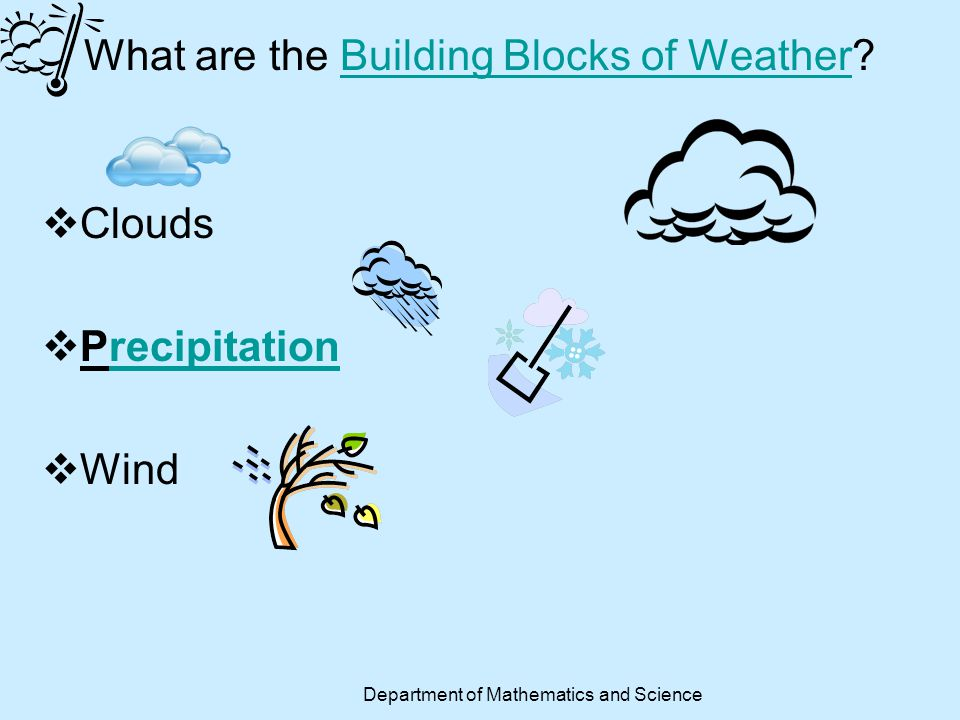 What are the Building Blocks of Weather
