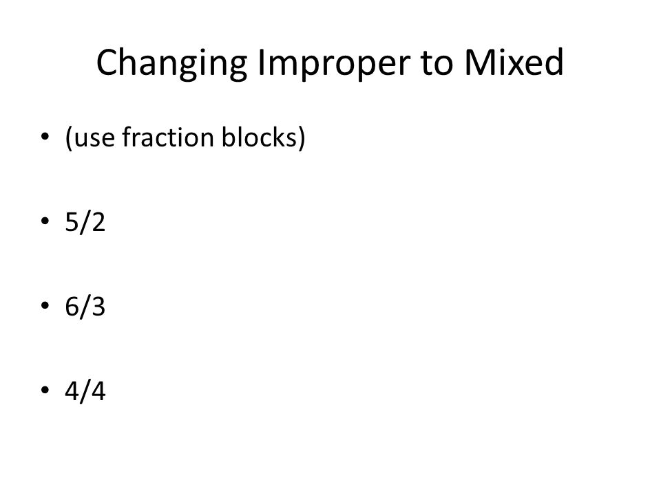 Changing Improper to Mixed