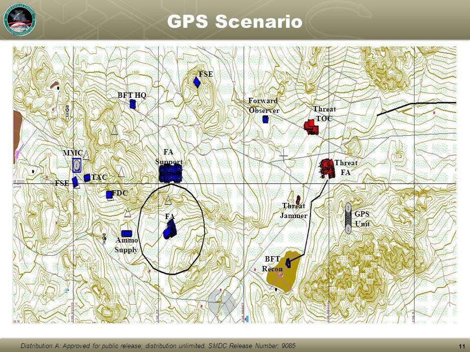 GPS Scenario FSE BFT HQ Forward Observer Threat TOC MMC FA Support