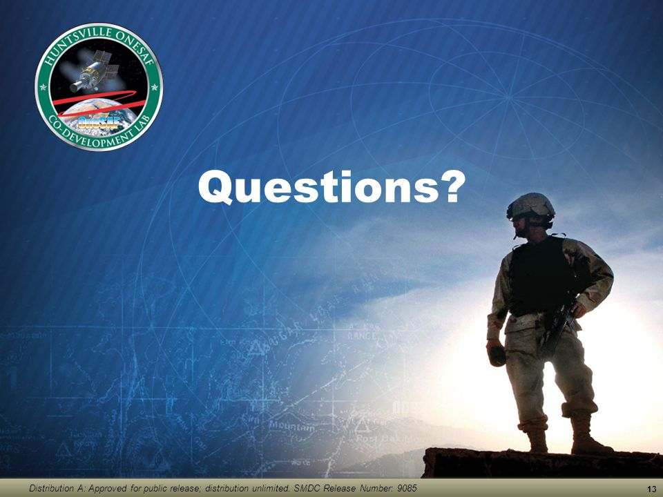 Questions. Distribution A: Approved for public release; distribution unlimited.