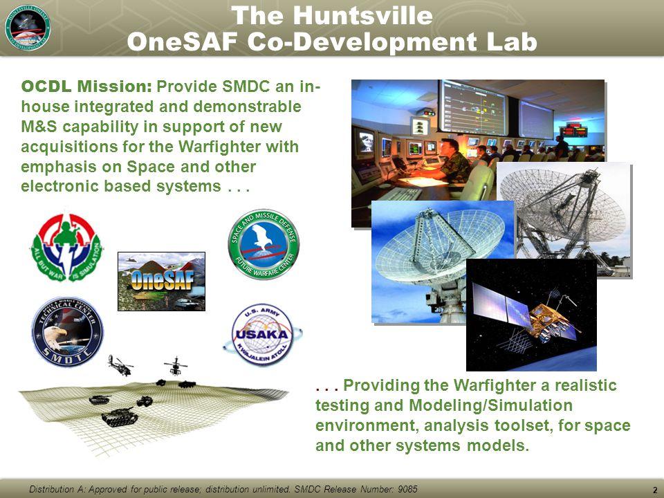 The Huntsville OneSAF Co-Development Lab