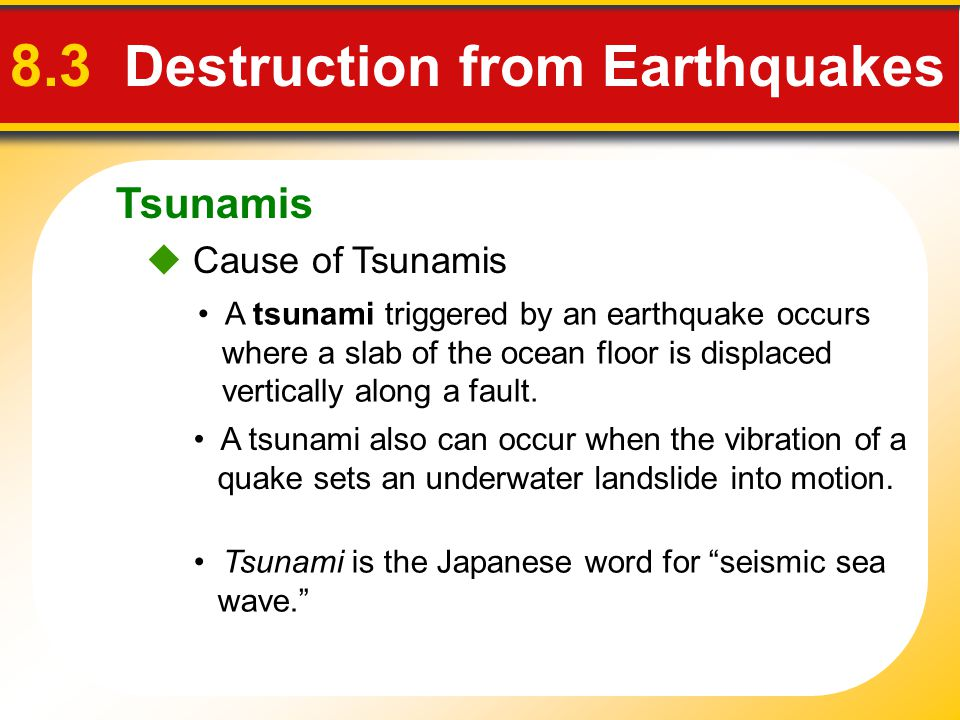 8.3 Destruction from Earthquakes