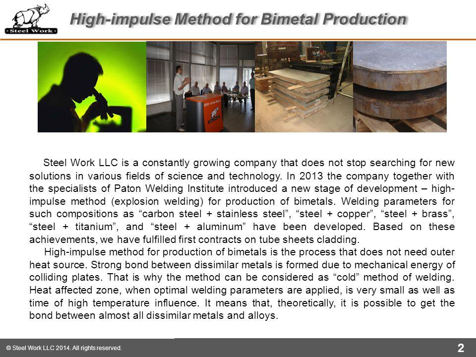 High-impulse Method for Bimetal Production