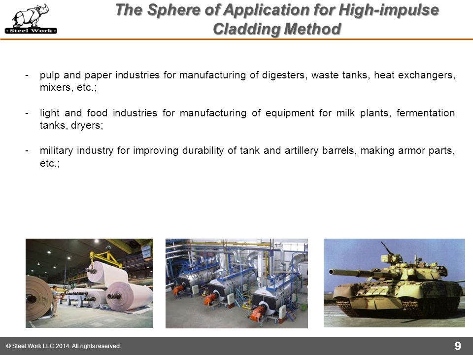 The Sphere of Application for High-impulse Cladding Method