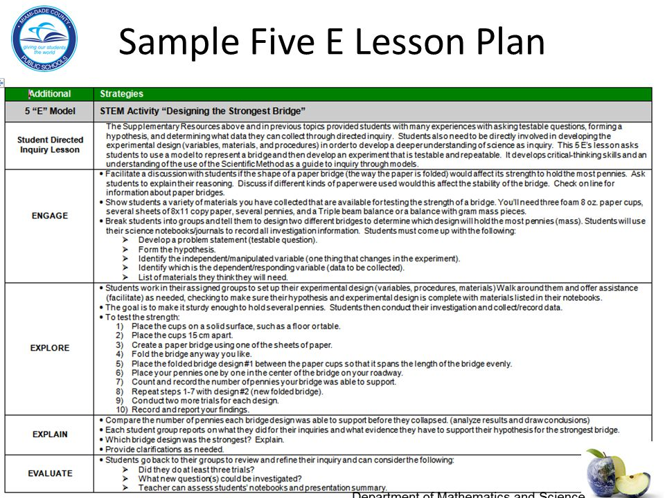 Department of mathematics and science ppt video online for 5 e model lesson plan template