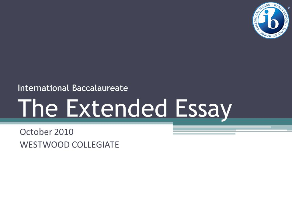 International baccalaureate biology extended essay