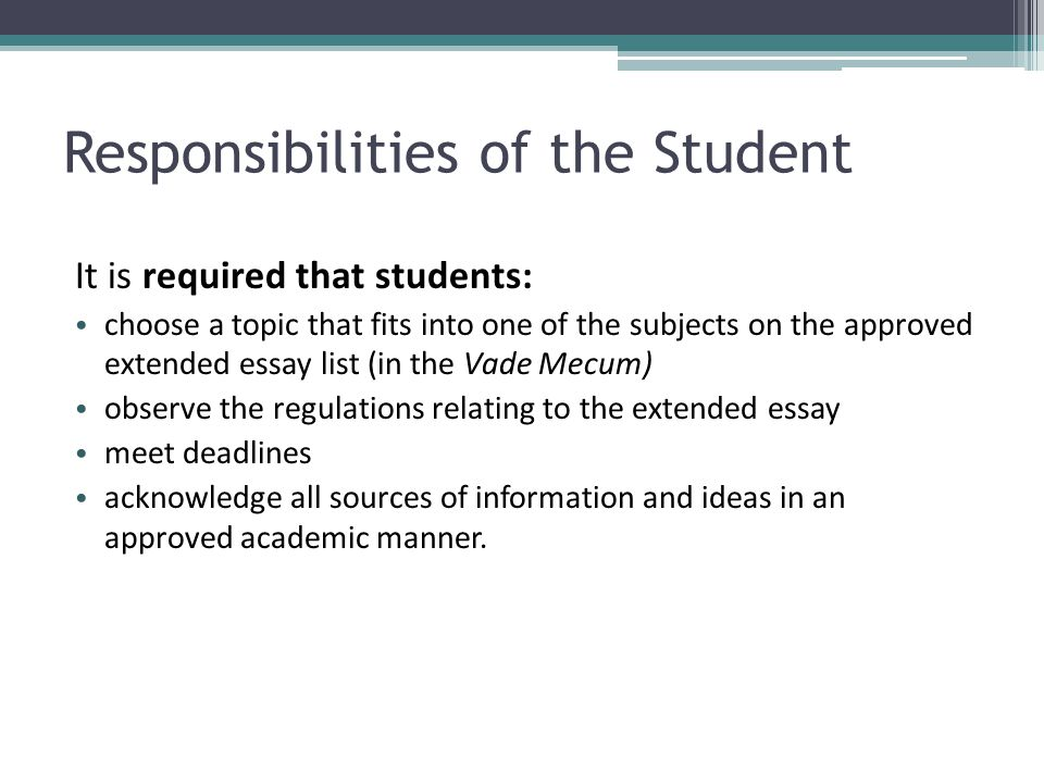 essay on responsibility of students