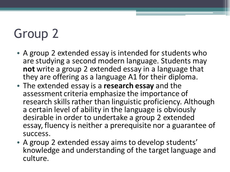 extended essay group 2 Browse and read group 2 extended essay examples group 2 extended essay examples read more and get great that's what the book enpdfd group 2 extended essay examples.