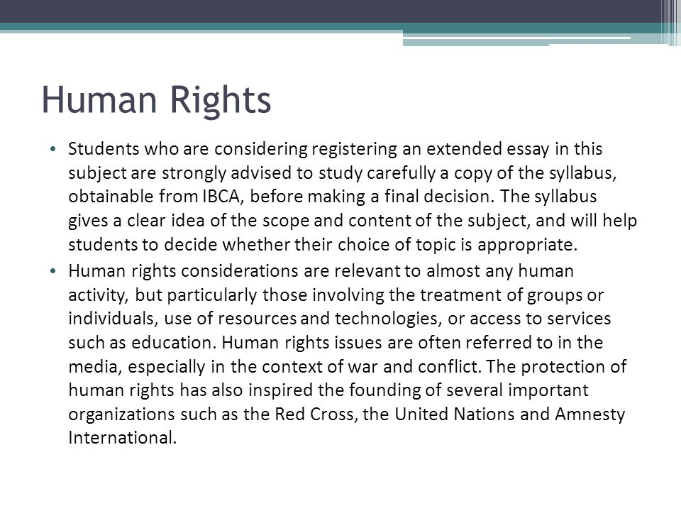 human rights topics for essays