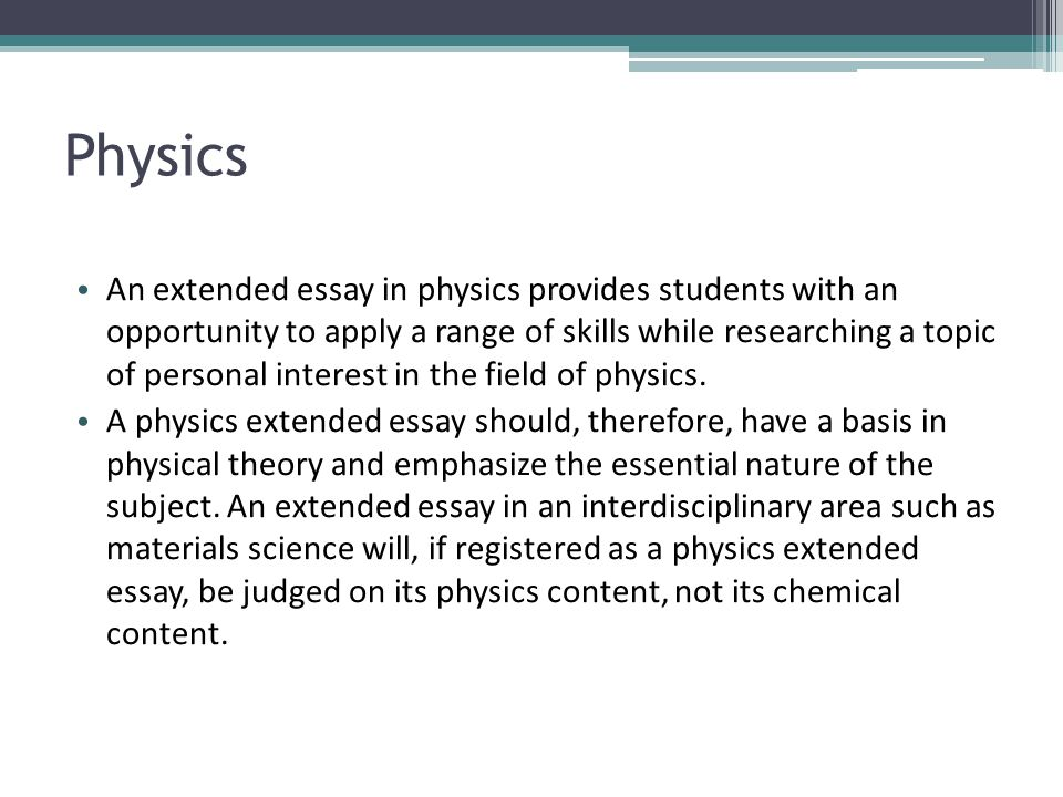 Physics Essay