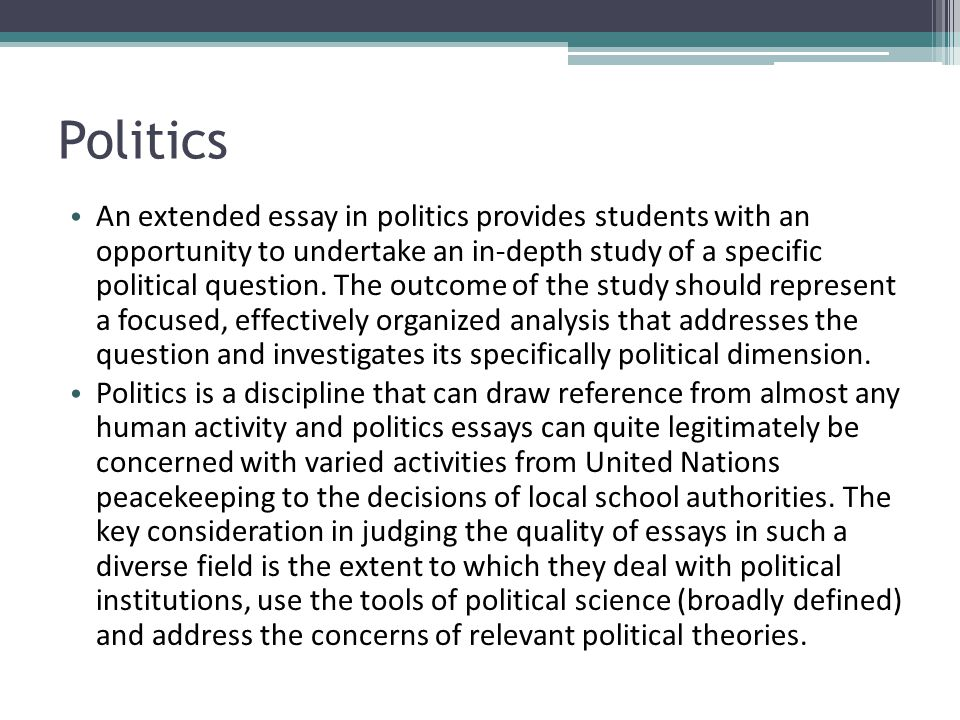 The Key Political Ideas Essay Writing A Political Science Essay