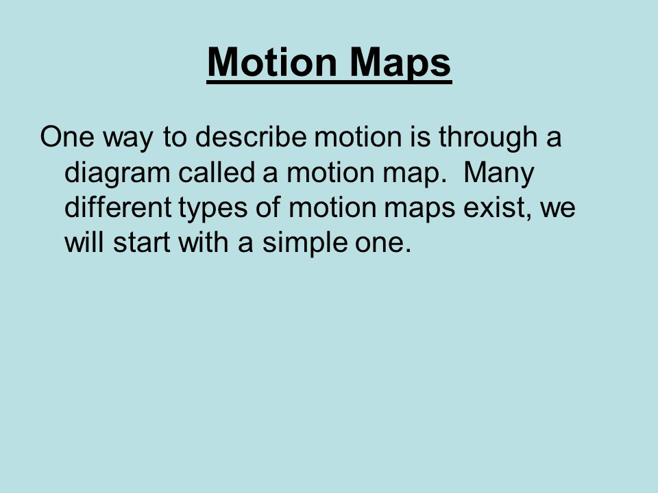 Motion Maps