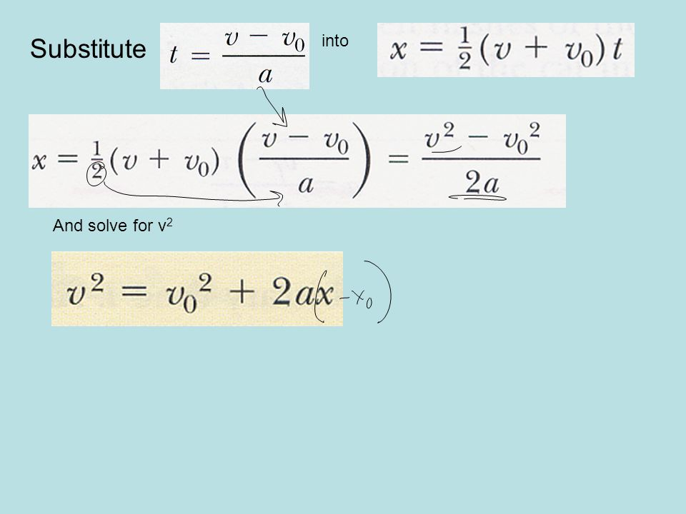 Substitute into And solve for v2