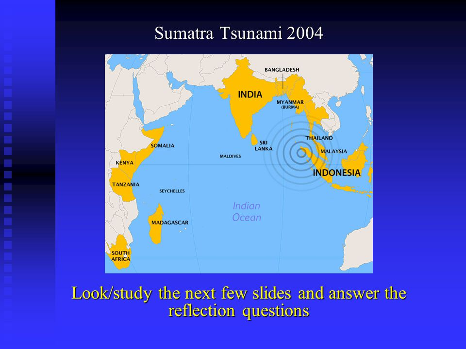 Look/study the next few slides and answer the reflection questions