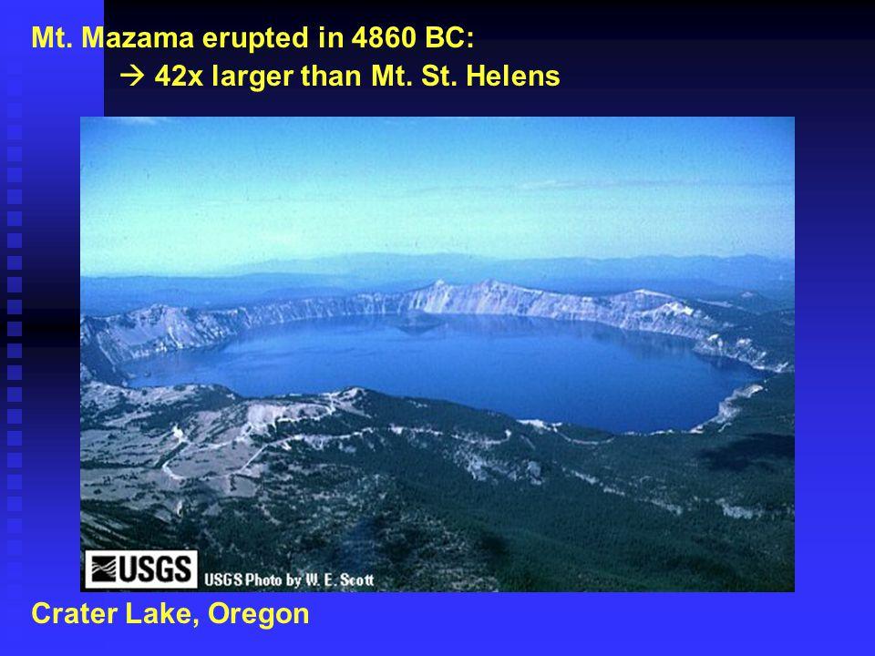 Mt. Mazama erupted in 4860 BC: