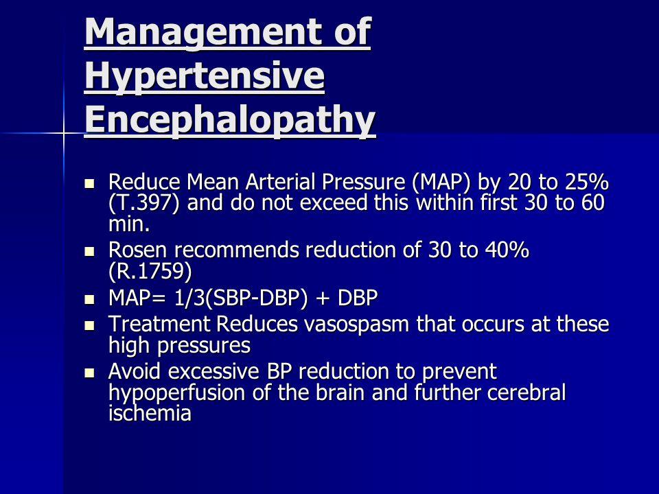 Management of Hypertensive Encephalopathy
