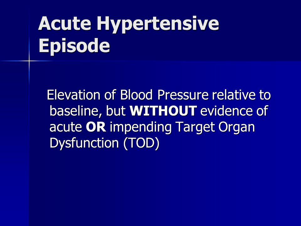 Acute Hypertensive Episode
