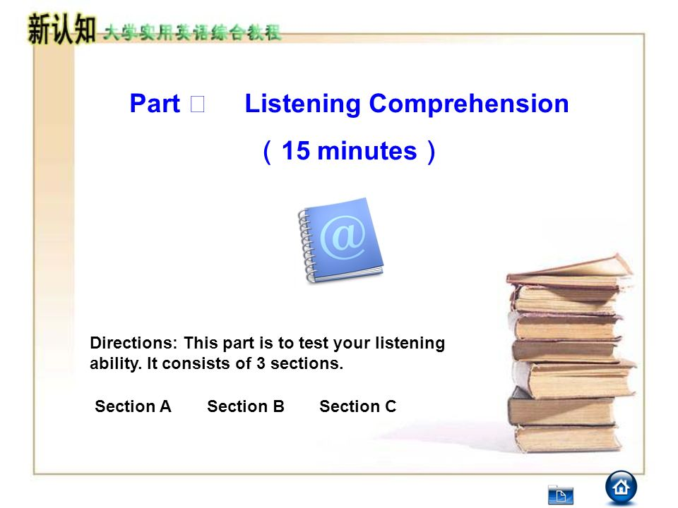 Part Ⅰ Listening Comprehension