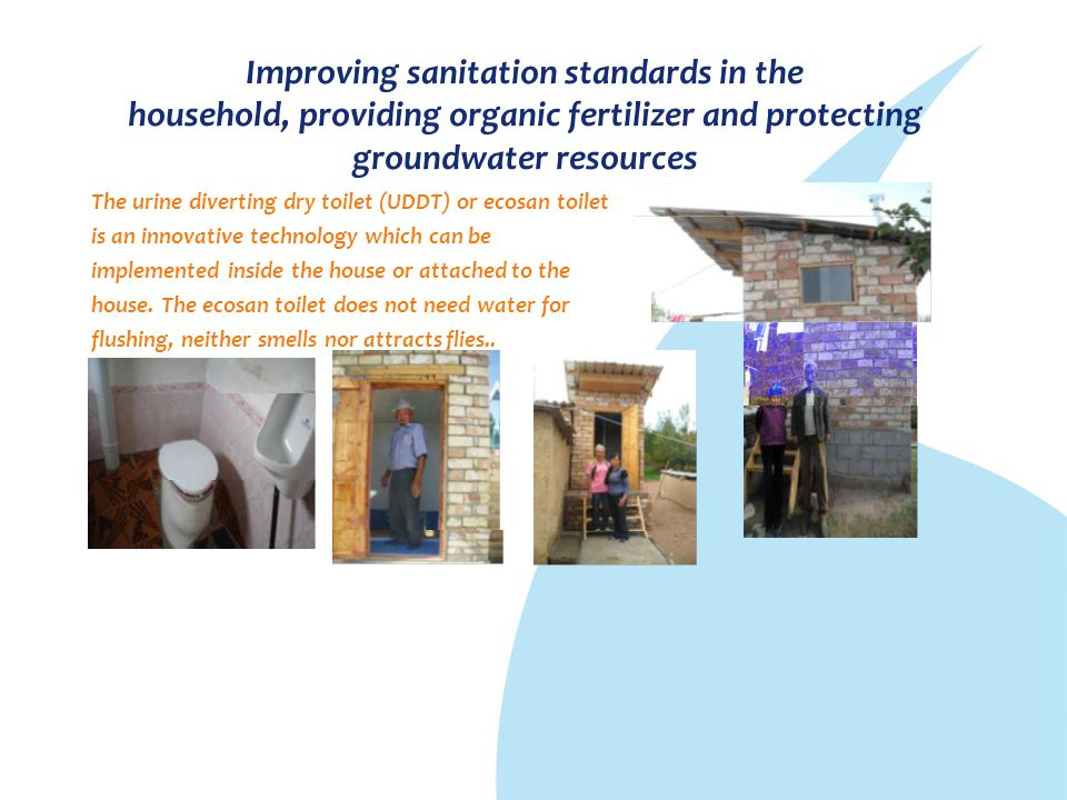 Improving sanitation standards in the household, providing organic fertilizer and protecting groundwater resources