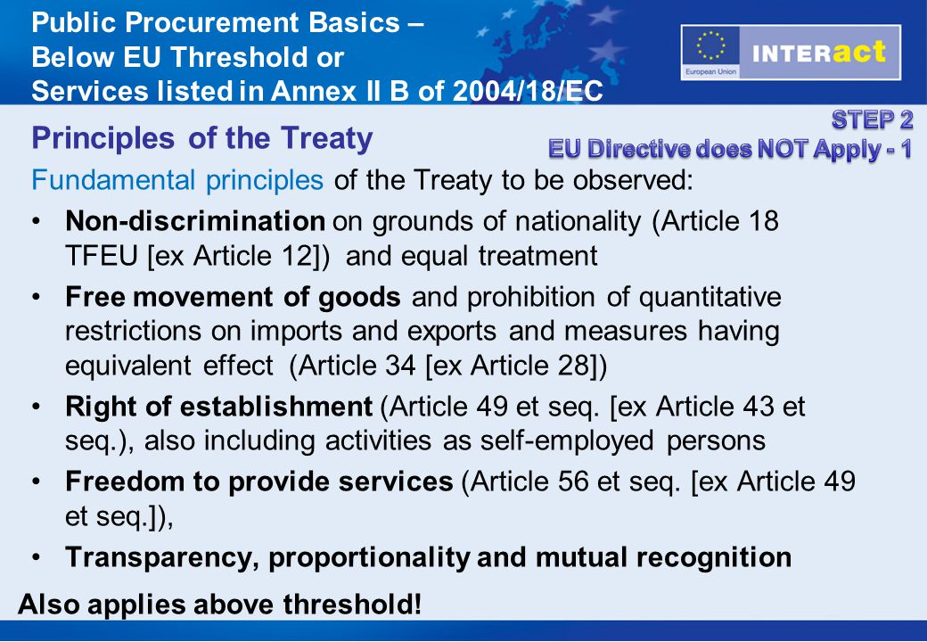 Principles of the Treaty