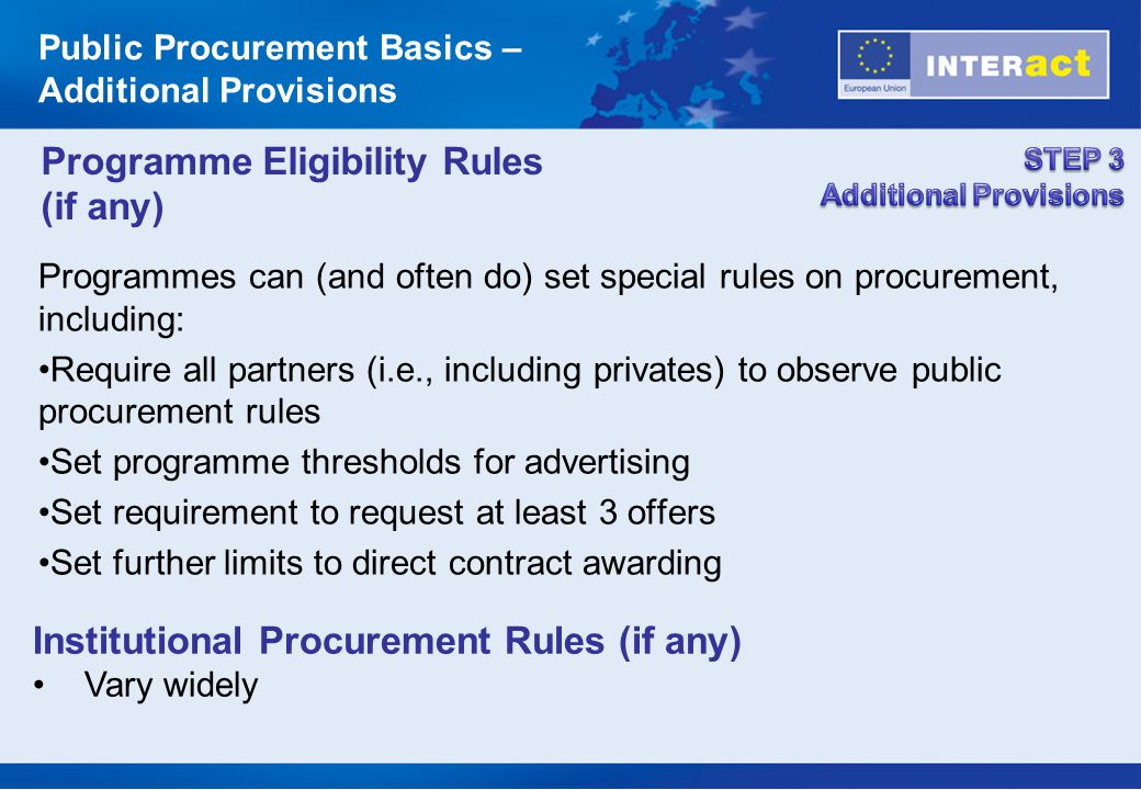 Programme Eligibility Rules (if any)