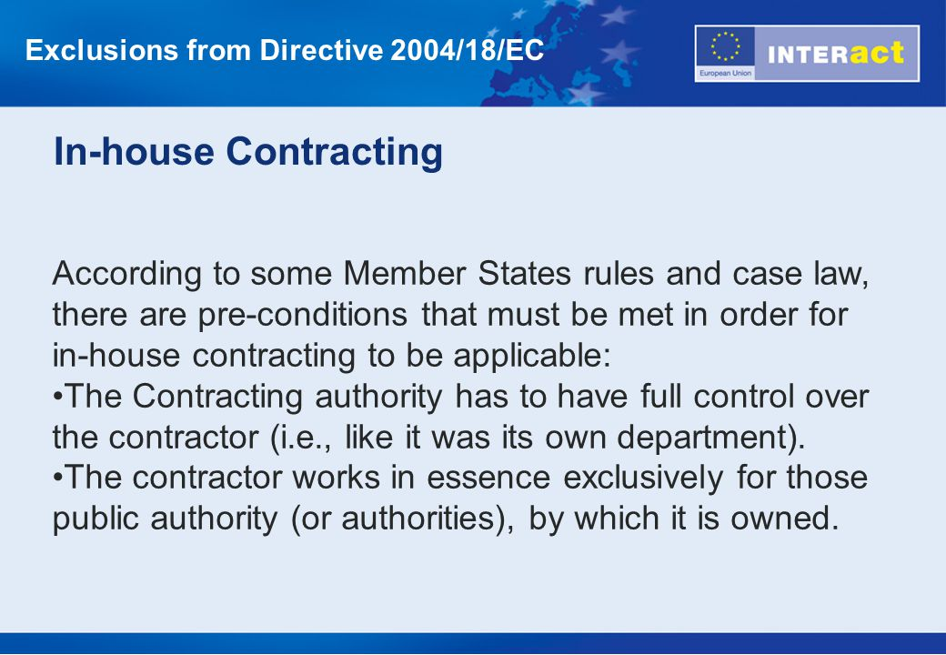 Exclusions from Directive 2004/18/EC