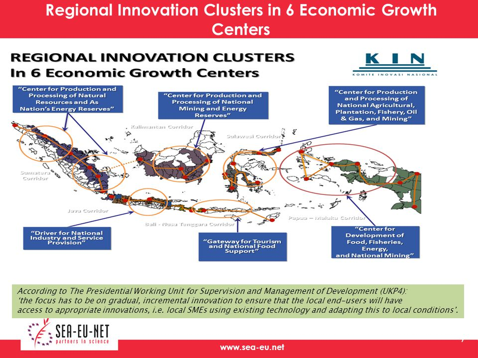 Regional Innovation Clusters in 6 Economic Growth Centers
