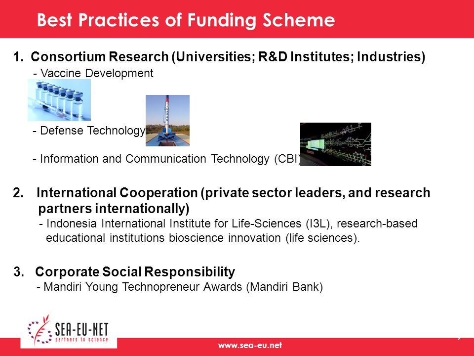 Best Practices of Funding Scheme