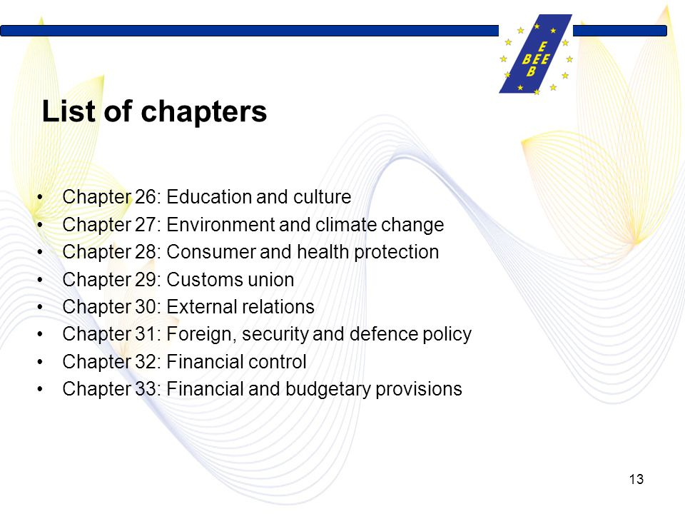 List of chapters Chapter 26: Education and culture