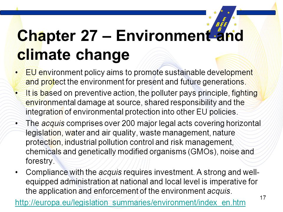 Chapter 27 – Environment and climate change