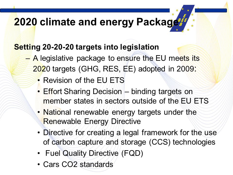 2020 climate and energy Package
