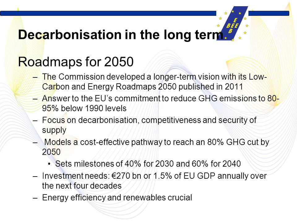 Decarbonisation in the long term