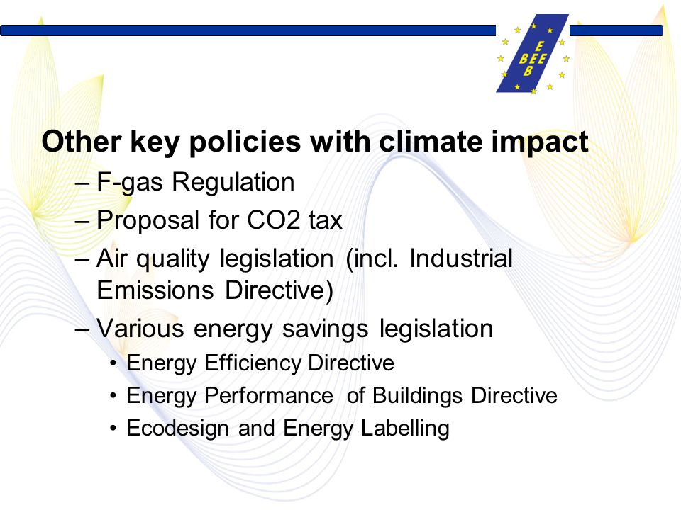 Other key policies with climate impact