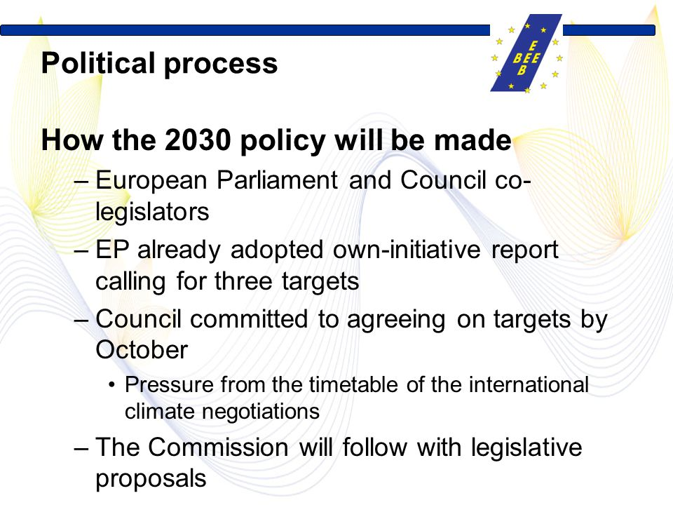 How the 2030 policy will be made