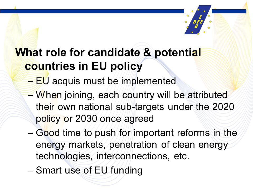 What role for candidate & potential countries in EU policy