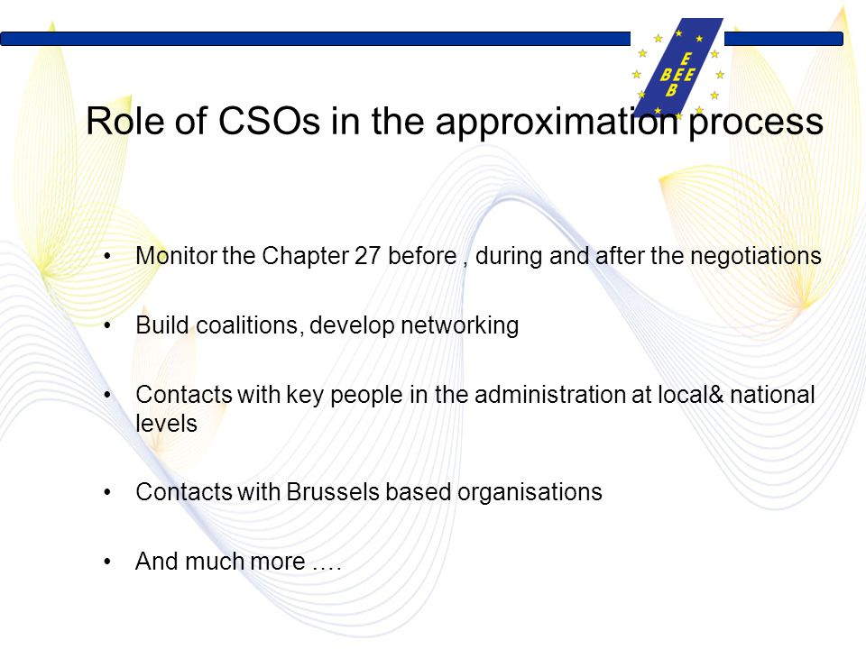 Role of CSOs in the approximation process