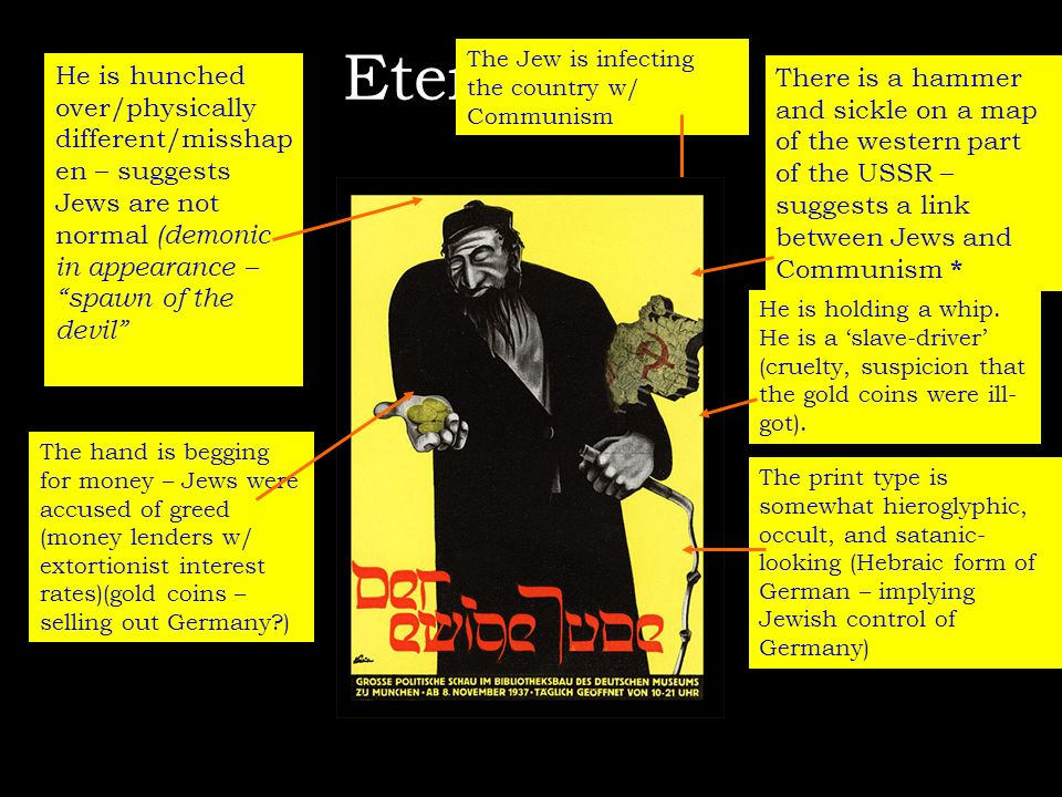 Eternal Jew The Jew is infecting the country w/ Communism.