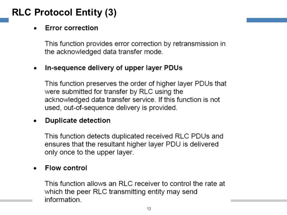 RLC Protocol Entity (3)