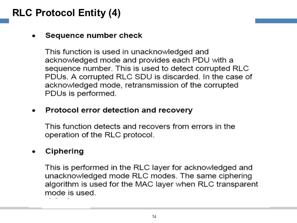 RLC Protocol Entity (4)