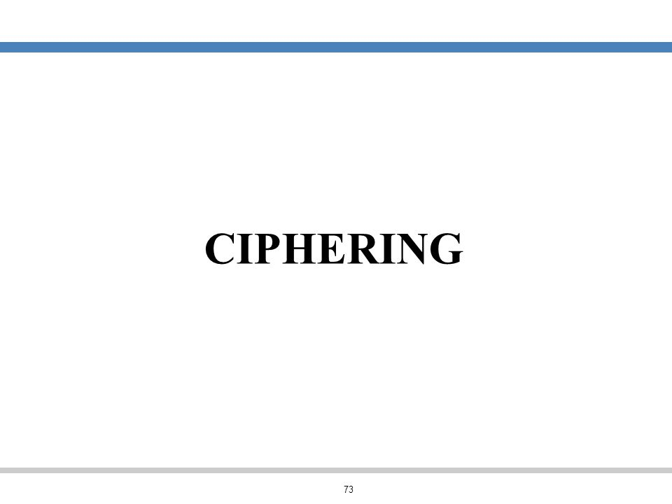 CIPHERING