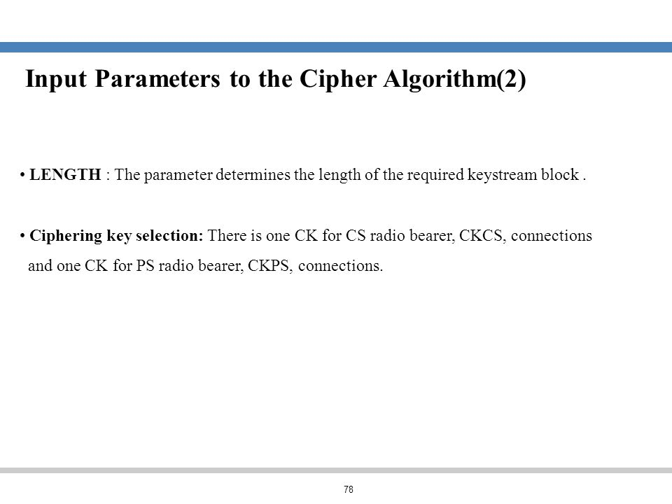 Input Parameters to the Cipher Algorithm(2)