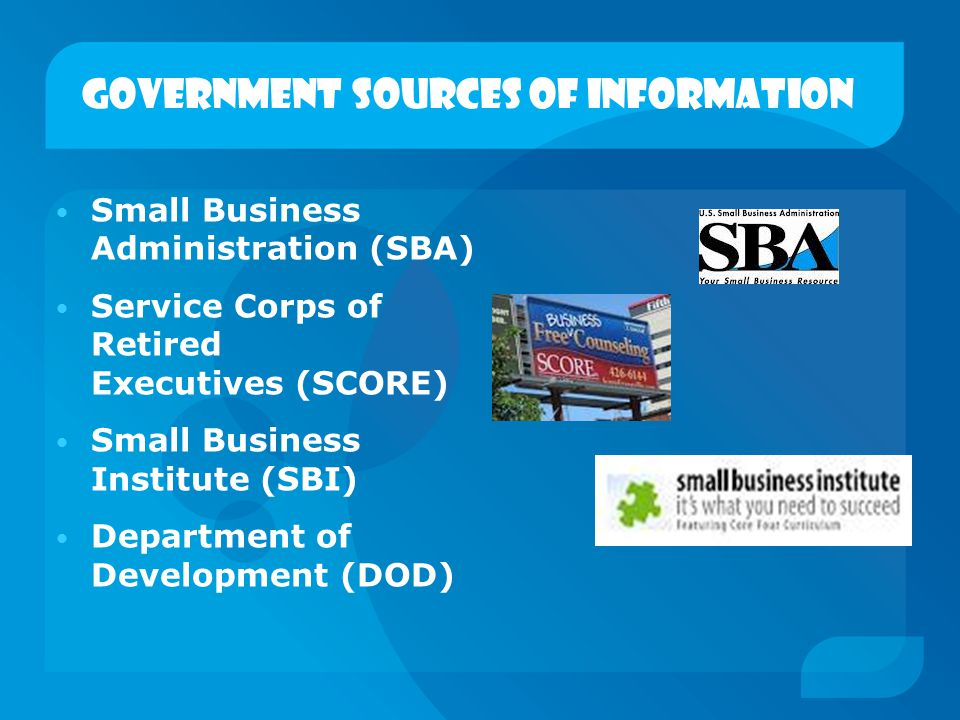 Government sources of information