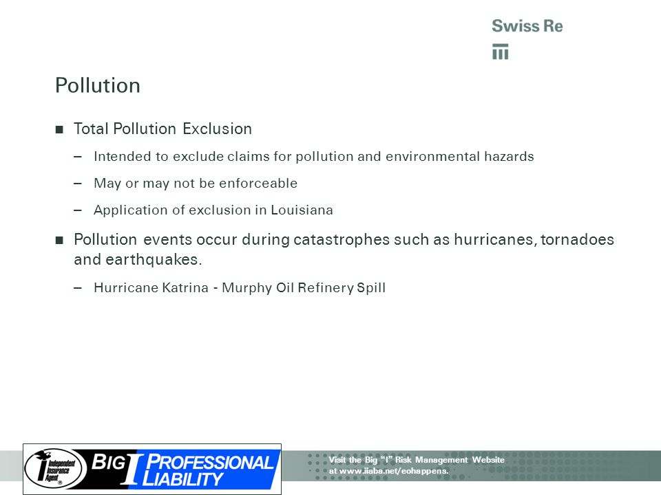 Pollution Total Pollution Exclusion