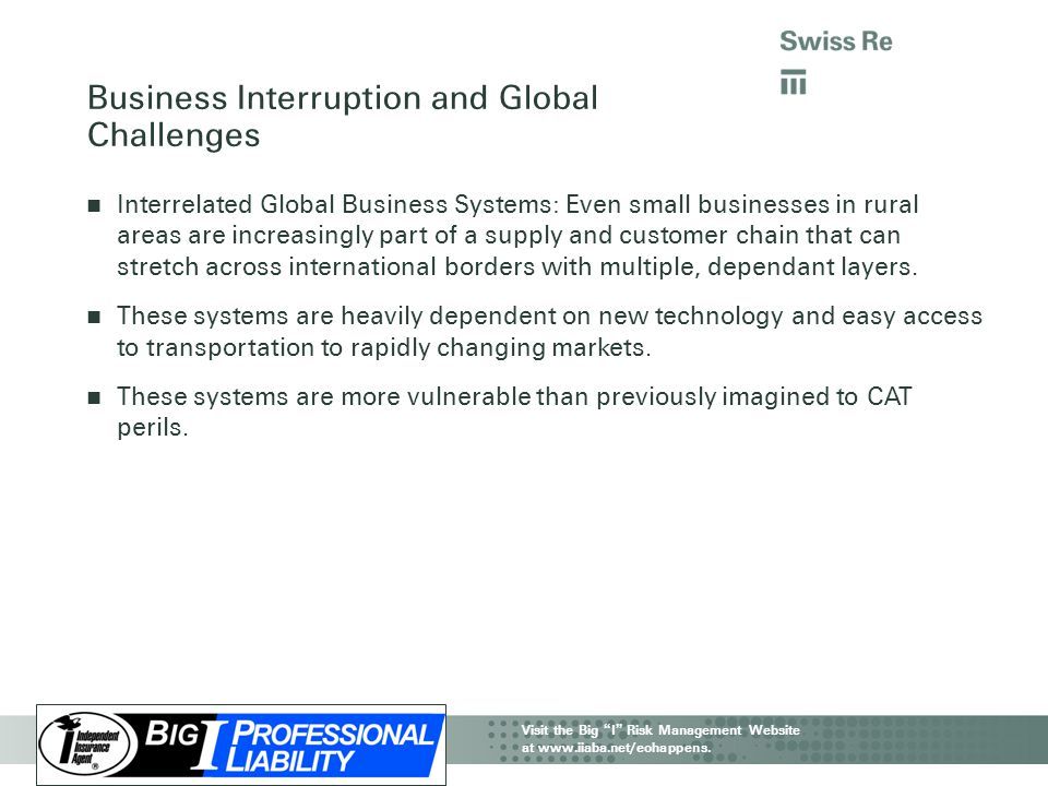 Business Interruption and Global Challenges