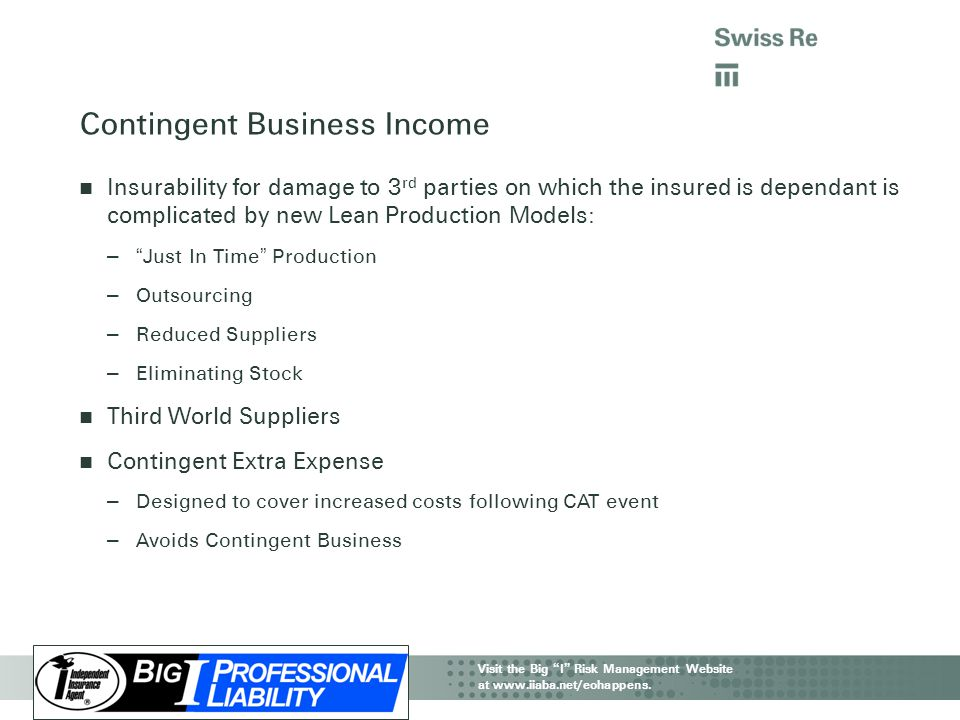 Contingent Business Income