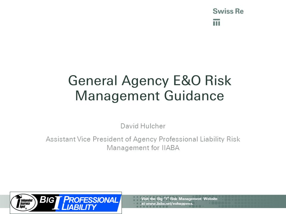 General Agency E&O Risk Management Guidance
