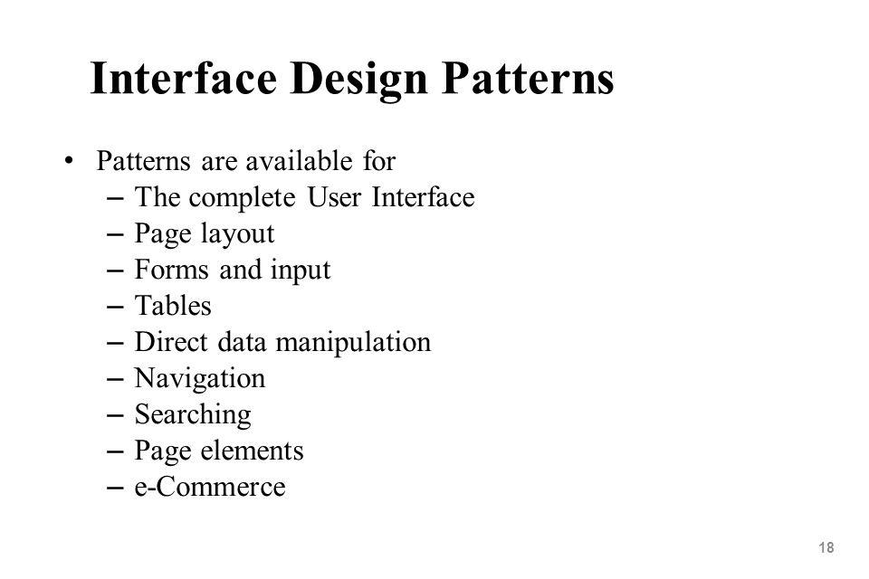 Interface Design Patterns