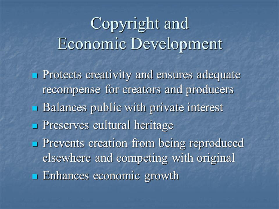 Copyright and Economic Development