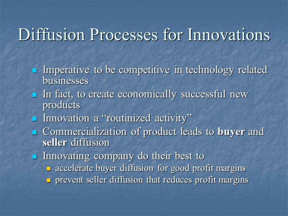 Diffusion Processes for Innovations